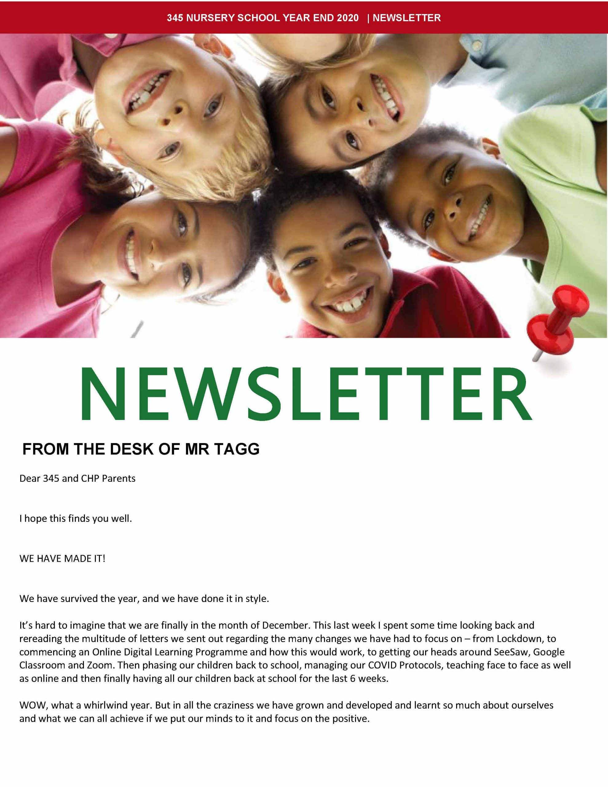 345 Year End Newsletter